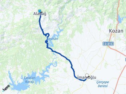 Adana Aladağ İmamoğlu Arası Kaç Km? Arası Kaç Km Saat? Nerede Yol Haritası Yakıt, Rota ve Mesafe Hesaplama