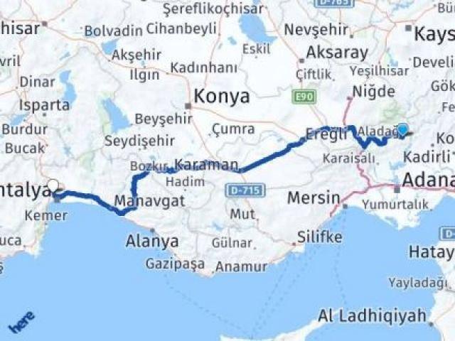 Adana Aladağ Kepez Arası Kaç Km? Arası Kaç Km Saat? Nerede Yol Haritası Yakıt, Rota ve Mesafe Hesaplama