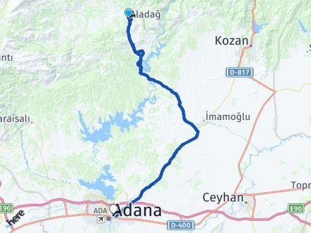Adana Aladağ Yüreğir Arası Kaç Km? Arası Kaç Km Saat? Nerede Yol Haritası Yakıt, Rota ve Mesafe Hesaplama