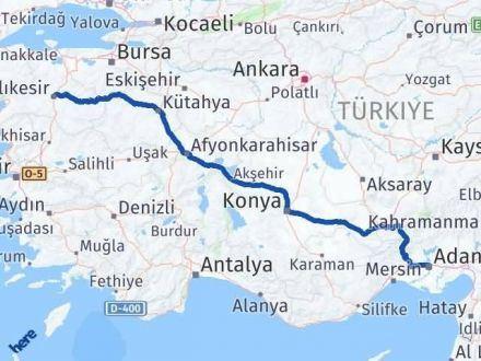 Adana Balıkesir Arası Kaç Km - Kaç Saat? Arası Kaç Km Saat? Nerede Yol Haritası Yakıt, Rota ve Mesafe Hesaplama