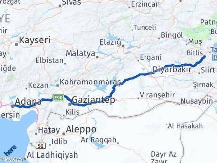 Adana Bitlis Arası Kaç Km? Kaç Saat? - Km hesaplama Arası Kaç Km Saat? Nerede Yol Haritası Yakıt, Rota ve Mesafe Hesaplama