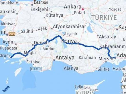 Adana Bodrum Arası Kaç Km? Arası Kaç Km Saat? Nerede Yol Haritası Yakıt, Rota ve Mesafe Hesaplama
