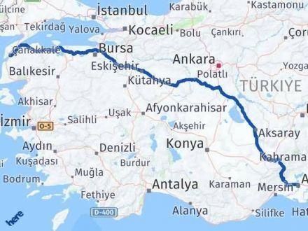 Adana Çanakkale Arası Kaç Km - Kaç Saat? Arası Kaç Km Saat? Nerede Yol Haritası Yakıt, Rota ve Mesafe Hesaplama