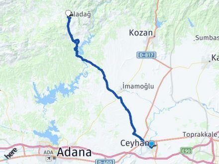 Adana Ceyhan Aladağ Arası Kaç Km? Arası Kaç Km Saat? Nerede Yol Haritası Yakıt, Rota ve Mesafe Hesaplama