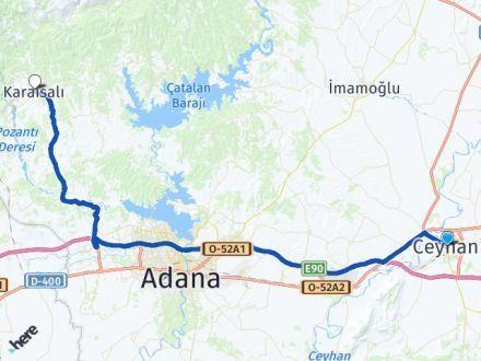 Adana Ceyhan Karaisalı Arası Kaç Km? Arası Kaç Km Saat? Nerede Yol Haritası Yakıt, Rota ve Mesafe Hesaplama