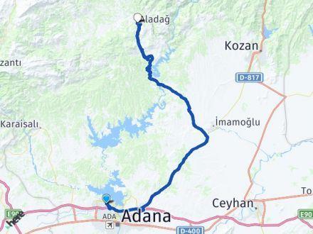 Adana Çukurova Aladağ Arası Kaç Km? Arası Kaç Km Saat? Nerede Yol Haritası Yakıt, Rota ve Mesafe Hesaplama