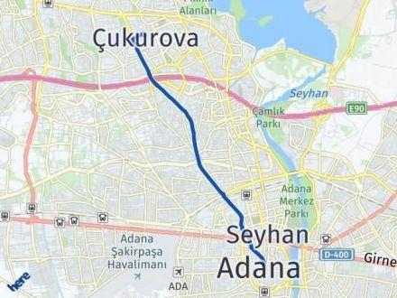 Adana Çukurova Arası Kaç Km? Yol Haritası - Km Hesaplama Arası Kaç Km Saat? Nerede Yol Haritası Yakıt, Rota ve Mesafe Hesaplama