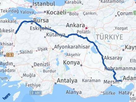 Adana Çukurova   Balıkesir Arası Kaç Km? Arası Kaç Km Saat? Nerede Yol Haritası Yakıt, Rota ve Mesafe Hesaplama