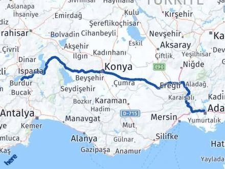 Adana Çukurova   Burdur Arası Kaç Km? Arası Kaç Km Saat? Nerede Yol Haritası Yakıt, Rota ve Mesafe Hesaplama