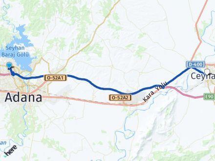 Adana Çukurova Ceyhan Arası Kaç Km? Arası Kaç Km Saat? Nerede Yol Haritası Yakıt, Rota ve Mesafe Hesaplama
