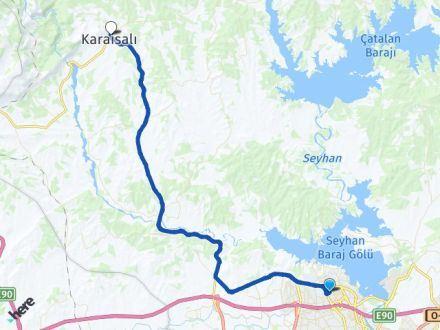 Adana Çukurova Karaisalı Arası Kaç Km? Arası Kaç Km Saat? Nerede Yol Haritası Yakıt, Rota ve Mesafe Hesaplama
