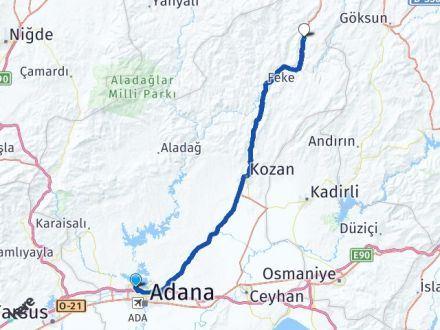 Adana Çukurova Saimbeyli Arası Kaç Km? Arası Kaç Km Saat? Nerede Yol Haritası Yakıt, Rota ve Mesafe Hesaplama
