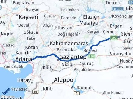 Adana Diyarbakır Arası Kaç Km? Kaç Saat? - Km hesaplama Arası Kaç Km Saat? Nerede Yol Haritası Yakıt, Rota ve Mesafe Hesaplama