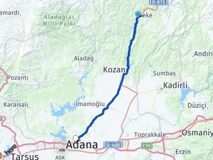 Adana Feke Sarıçam Arası Kaç Km? Arası Kaç Km Saat? Nerede Yol Haritası Yakıt, Rota ve Mesafe Hesaplama