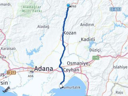 Adana Feke Yumurtalık Arası Kaç Km? Arası Kaç Km Saat? Nerede Yol Haritası Yakıt, Rota ve Mesafe Hesaplama