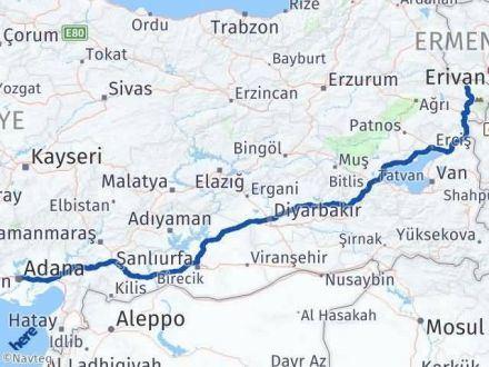 Adana Iğdır Arası Kaç Km - Kaç Saat? Arası Kaç Km Saat? Nerede Yol Haritası Yakıt, Rota ve Mesafe Hesaplama