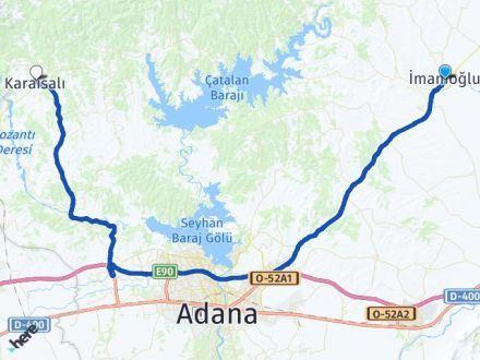 Adana İmamoğlu Karaisalı Arası Kaç Km? Arası Kaç Km Saat? Nerede Yol Haritası Yakıt, Rota ve Mesafe Hesaplama