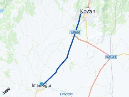 Adana İmamoğlu Kozan Arası Kaç Km? Arası Kaç Km Saat? Nerede Yol Haritası Yakıt, Rota ve Mesafe Hesaplama