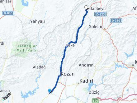 Adana İmamoğlu Tufanbeyli Arası Kaç Km? Arası Kaç Km Saat? Nerede Yol Haritası Yakıt, Rota ve Mesafe Hesaplama
