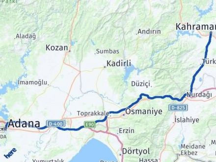 Adana Maraş Arası Kaç Km - Kaç Saat? Arası Kaç Km Saat? Nerede Yol Haritası Yakıt, Rota ve Mesafe Hesaplama