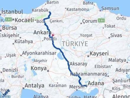 Adana Karabük Arası Kaç Km - Kaç Saat? Arası Kaç Km Saat? Nerede Yol Haritası Yakıt, Rota ve Mesafe Hesaplama