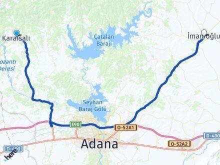 Adana Karaisalı İmamoğlu Arası Kaç Km? Arası Kaç Km Saat? Nerede Yol Haritası Yakıt, Rota ve Mesafe Hesaplama
