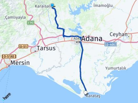 Adana Karaisalı Karataş Arası Kaç Km? Arası Kaç Km Saat? Nerede Yol Haritası Yakıt, Rota ve Mesafe Hesaplama