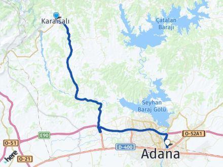 Adana Karaisalı Yüreğir Arası Kaç Km? Arası Kaç Km Saat? Nerede Yol Haritası Yakıt, Rota ve Mesafe Hesaplama