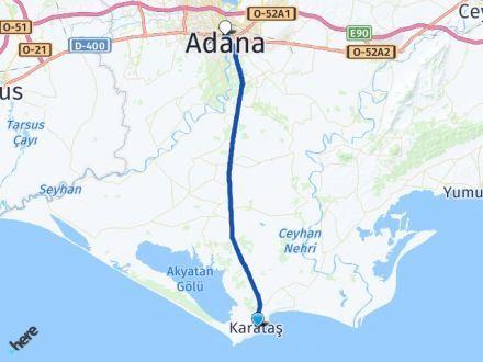 Adana Karataş Seyhan Arası Kaç Km? Arası Kaç Km Saat? Nerede Yol Haritası Yakıt, Rota ve Mesafe Hesaplama