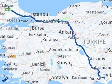 Adana Kırklareli Arası Kaç Km - Kaç Saat? Arası Kaç Km Saat? Nerede Yol Haritası Yakıt, Rota ve Mesafe Hesaplama