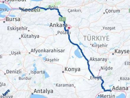 Adana Kocaeli Arası Kaç Km - Kaç Saat? Arası Kaç Km Saat? Nerede Yol Haritası Yakıt, Rota ve Mesafe Hesaplama