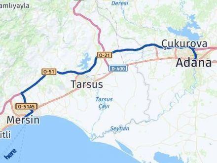 Adana Mersin Arası Kaç Km - Kaç Saat? Arası Kaç Km Saat? Nerede Yol Haritası Yakıt, Rota ve Mesafe Hesaplama