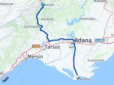 Adana Pozantı Karataş Arası Kaç Km? Arası Kaç Km Saat? Nerede Yol Haritası Yakıt, Rota ve Mesafe Hesaplama