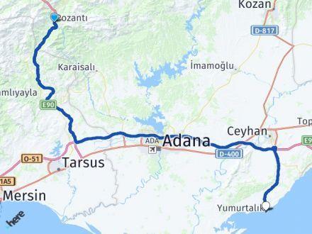 Adana Pozantı Yumurtalık Arası Kaç Km? Arası Kaç Km Saat? Nerede Yol Haritası Yakıt, Rota ve Mesafe Hesaplama