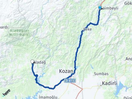 Adana Saimbeyli Aladağ Arası Kaç Km? Arası Kaç Km Saat? Nerede Yol Haritası Yakıt, Rota ve Mesafe Hesaplama