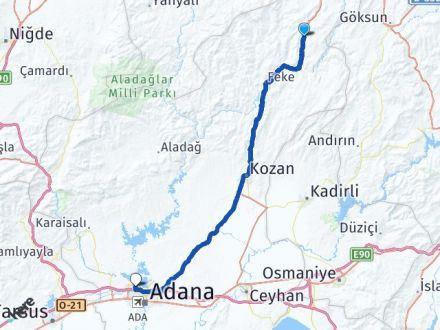 Adana Saimbeyli Çukurova Arası Kaç Km? Arası Kaç Km Saat? Nerede Yol Haritası Yakıt, Rota ve Mesafe Hesaplama