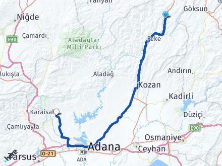 Adana Saimbeyli Karaisalı Arası Kaç Km? Arası Kaç Km Saat? Nerede Yol Haritası Yakıt, Rota ve Mesafe Hesaplama