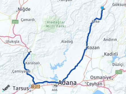 Adana Saimbeyli Pozantı Arası Kaç Km? Arası Kaç Km Saat? Nerede Yol Haritası Yakıt, Rota ve Mesafe Hesaplama