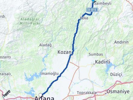 Adana Saimbeyli Sarıçam Arası Kaç Km? Arası Kaç Km Saat? Nerede Yol Haritası Yakıt, Rota ve Mesafe Hesaplama