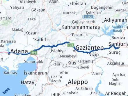 Adana Şanlıurfa Arası Kaç Km - Kaç Saat? Arası Kaç Km Saat? Nerede Yol Haritası Yakıt, Rota ve Mesafe Hesaplama