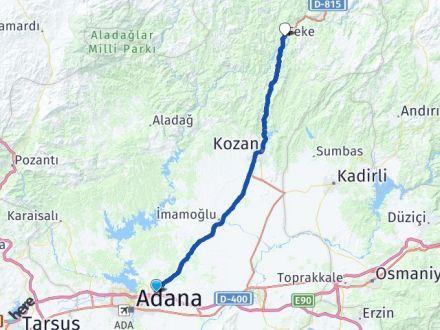 Adana Sarıçam Feke Arası Kaç Km? Arası Kaç Km Saat? Nerede Yol Haritası Yakıt, Rota ve Mesafe Hesaplama
