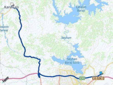 Adana Sarıçam Karaisalı Arası Kaç Km? Arası Kaç Km Saat? Nerede Yol Haritası Yakıt, Rota ve Mesafe Hesaplama