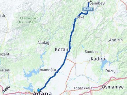 Adana Sarıçam Saimbeyli Arası Kaç Km? Arası Kaç Km Saat? Nerede Yol Haritası Yakıt, Rota ve Mesafe Hesaplama