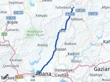 Adana Sarıçam Tufanbeyli Arası Kaç Km? Arası Kaç Km Saat? Nerede Yol Haritası Yakıt, Rota ve Mesafe Hesaplama