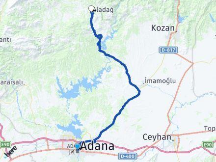 Adana Seyhan Aladağ Arası Kaç Km? Arası Kaç Km Saat? Nerede Yol Haritası Yakıt, Rota ve Mesafe Hesaplama