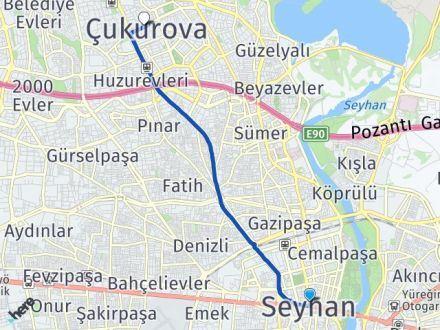 Adana Seyhan Çukurova Arası Kaç Km? Arası Kaç Km Saat? Nerede Yol Haritası Yakıt, Rota ve Mesafe Hesaplama