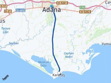 Adana Seyhan Karataş Arası Kaç Km? Arası Kaç Km Saat? Nerede Yol Haritası Yakıt, Rota ve Mesafe Hesaplama