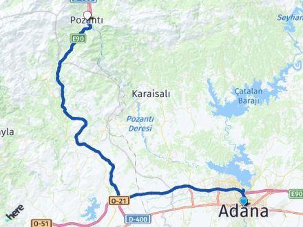 Adana Seyhan Pozantı Arası Kaç Km? Arası Kaç Km Saat? Nerede Yol Haritası Yakıt, Rota ve Mesafe Hesaplama