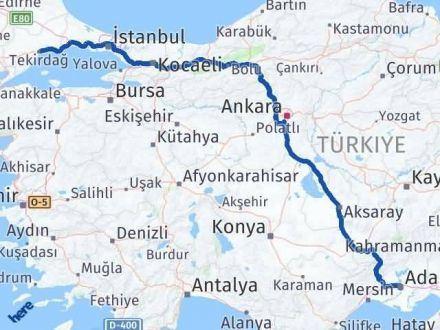 Adana Tekirdağ Arası Kaç Km - Kaç Saat? Arası Kaç Km Saat? Nerede Yol Haritası Yakıt, Rota ve Mesafe Hesaplama