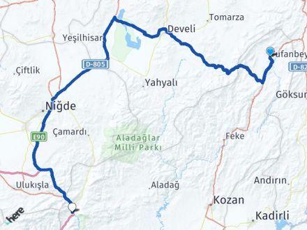 Adana Tufanbeyli Pozantı Arası Kaç Km? Arası Kaç Km Saat? Nerede Yol Haritası Yakıt, Rota ve Mesafe Hesaplama